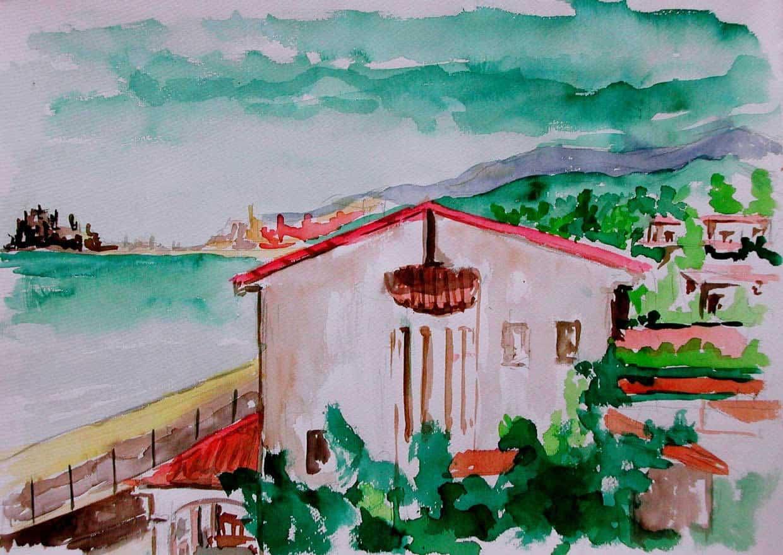 Pintura Acuarela Peniscola