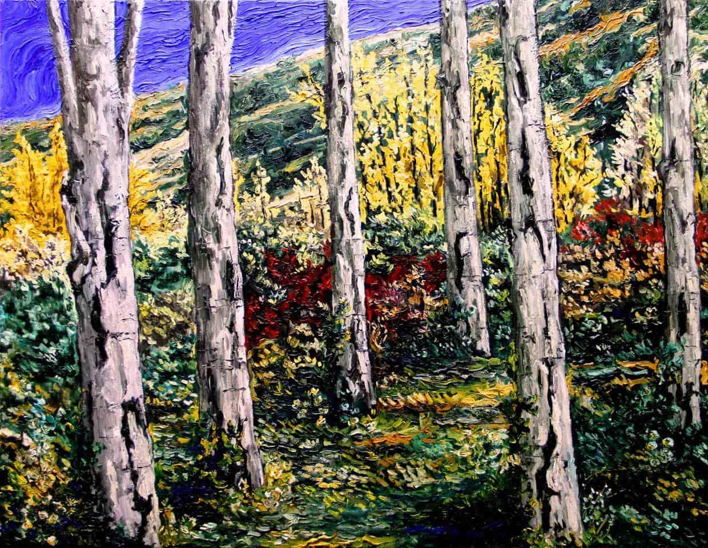 Pintura Oleo Chopos 60x90cm