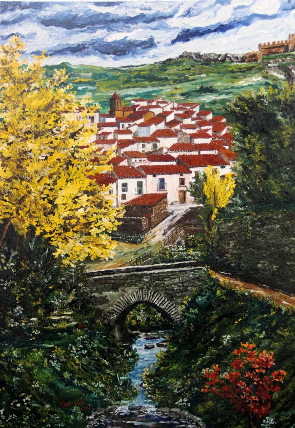 Puente Medieval I Talamantes (Zaragoza) 100x70 cm 3D