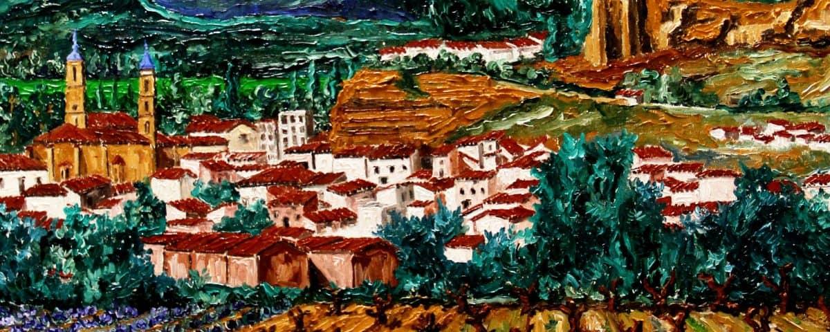 Arando La Viña óleo Sobre lienzo 3D 60x60 cm